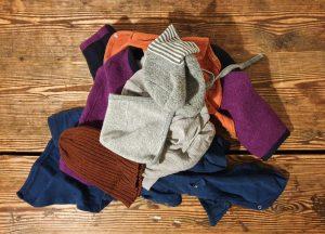 Kleider aus Wolle vorm Waschen