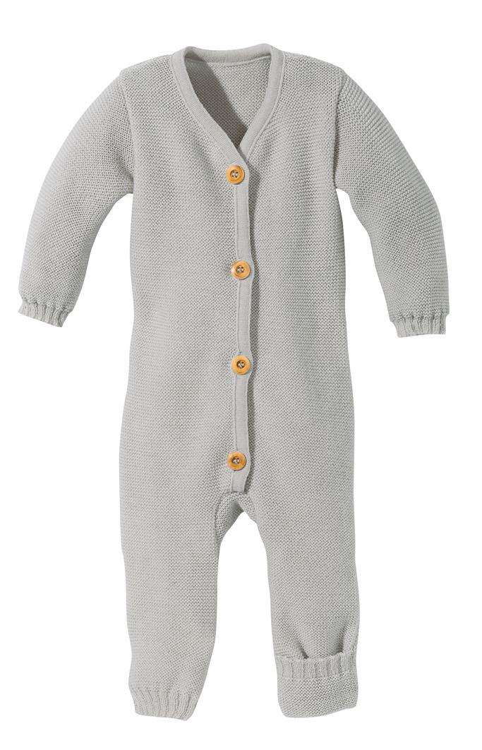Disana Strick-Overall für Babys grau