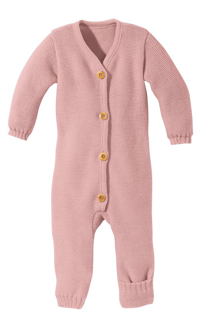 Disana Strick-Overall für Babys rose